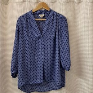 Laundry by Shelli Segal Blue Blouse